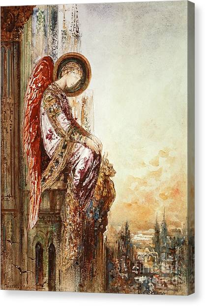 Cathedrals Canvas Print - Angel Traveller by Gustave Moreau
