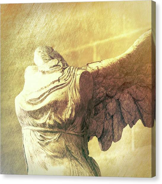 Hellenistic Art Canvas Print - Angel Wing - #3 by Stephen Stookey