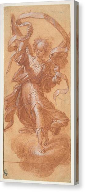Procaccini Canvas Print - Angel With A Banderole , Camillo Procaccini by Camillo Procaccini