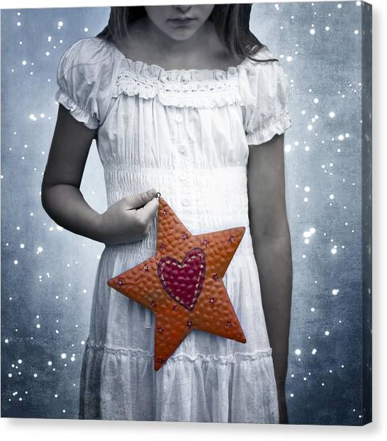 Nightgowns Canvas Print - Angel With A Star by Joana Kruse