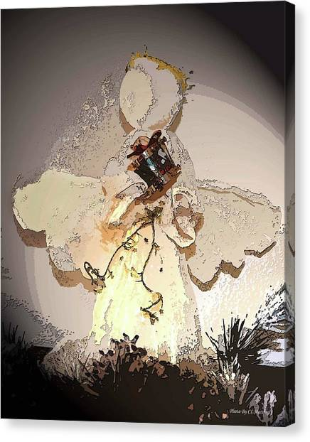 Angel With Drum Canvas Print