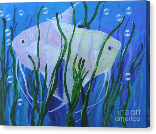 Angelfish Duo Canvas Print