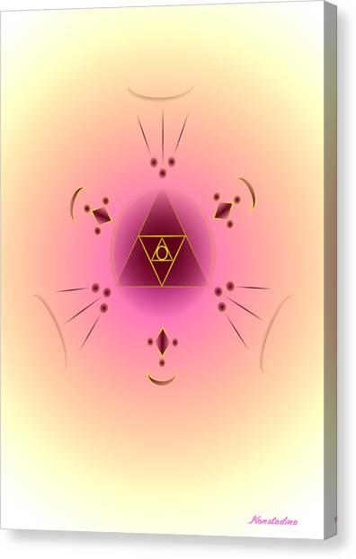 Angelic Code - Psychic Vision Canvas Print by Konstadina Sadoriniou - Adhen