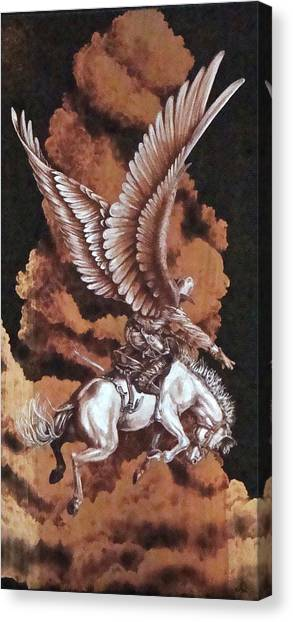 Angelic Saddle Bronc Canvas Print by Jerrywayne Anderson