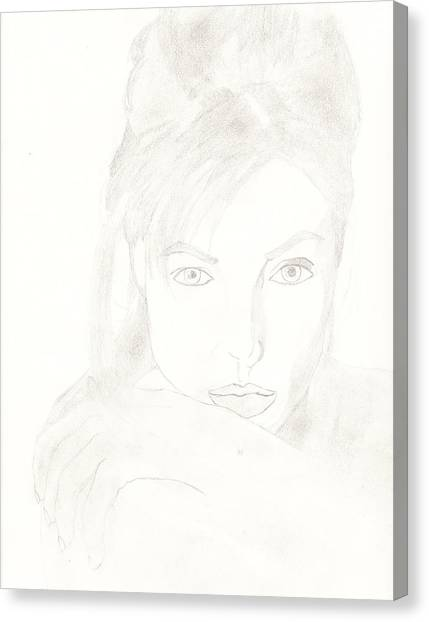 Angelina Canvas Print by Carlos Hyman