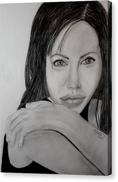 Angelina Jolie Canvas Print by Kimber  Butler
