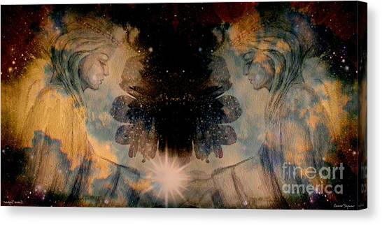 Angels Administering Spiritual Gifts Canvas Print