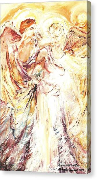 Angels Emerging Canvas Print