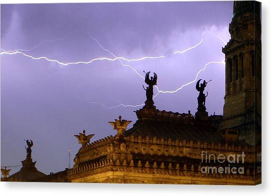 Angels Of Lightning Canvas Print