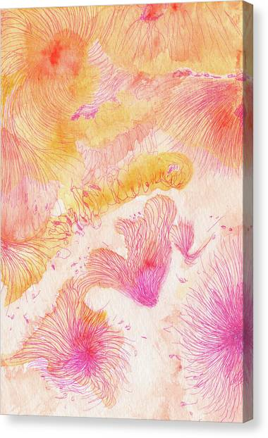 Angels Singing - #ss16dw046 Canvas Print by Satomi Sugimoto