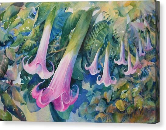 Angels Trumpets I Canvas Print