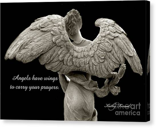 Angel Art By Kathy Fornal Canvas Print - Angels Wings - Inspirational Angel Art Photos by Kathy Fornal