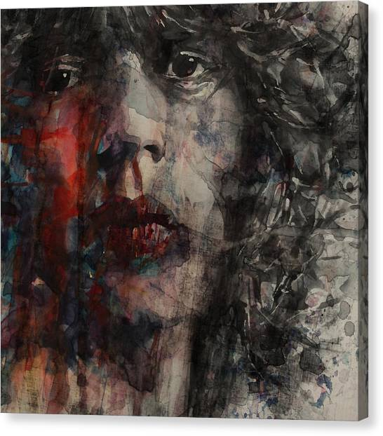 Rolling Stones Canvas Print - Angie I Still Love You Baby  Every Where I Look I See Your Eyes by Paul Lovering