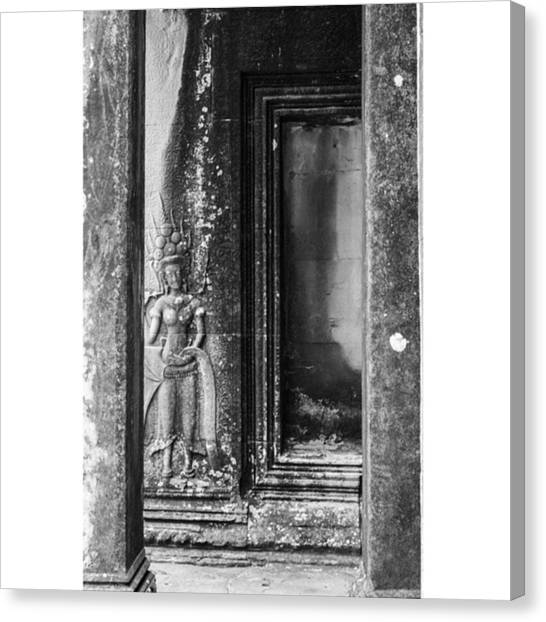 Architecturelovers Canvas Print - Angkor Carvings by Georgia Fowler