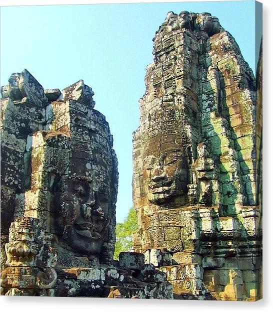 Hinduism Canvas Print - Angkor Wat, Cambodia.  #angkorwat by Linnea Lindblom