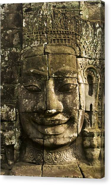 Angkor Wat Face Canvas Print