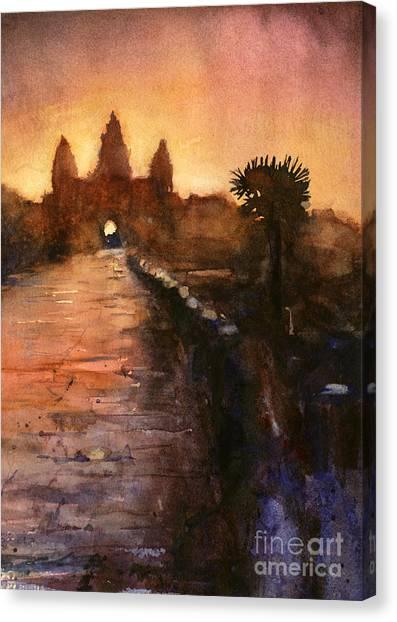 Angkor Wat Sunrise 2 Canvas Print