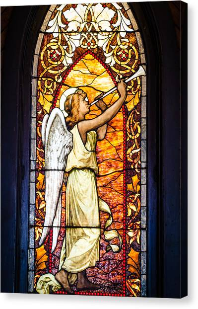 Angel In Glass Canvas Print