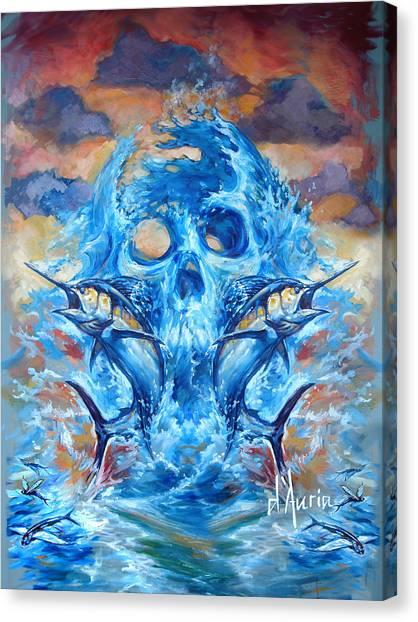 Angling Canvas Print - Angler Heat II by Tom Dauria