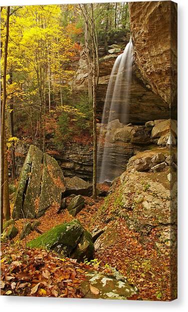 Anglin Falls Berea Kentucky Canvas Print