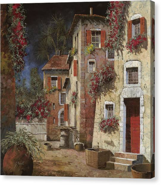 Night Lights Canvas Print - Angolo Buio by Guido Borelli
