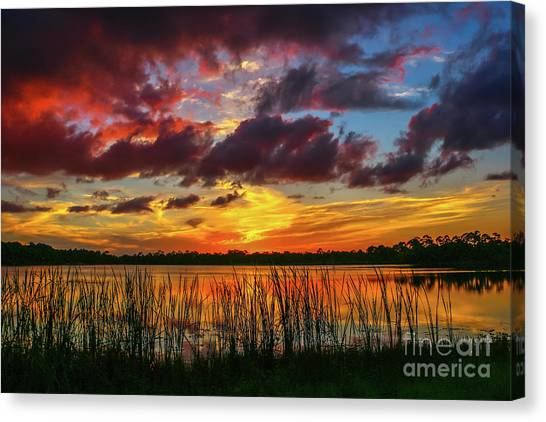 Angry Cloud Sunset Canvas Print