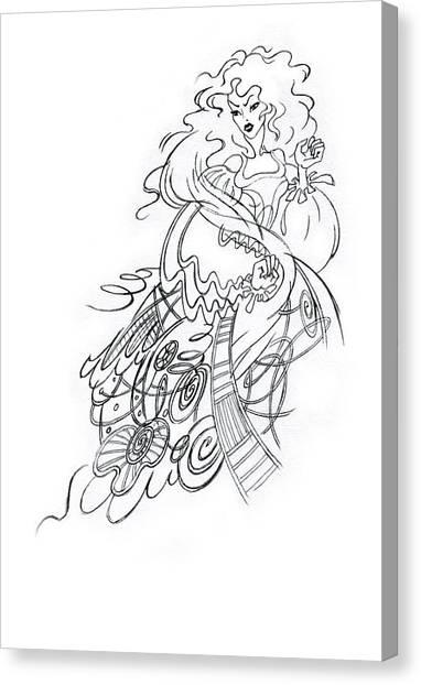 Angry Fairy Canvas Print by Agnese Kurzemniece