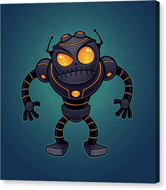 Droid Canvas Print - Angry Robot by John Schwegel