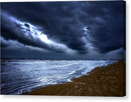 Angry Sky Peaceful Sea Canvas Print
