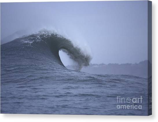 Angry Wave Angry Day Canvas Print