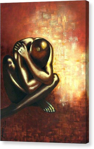 Angst Of Existence Canvas Print by Padmakar Kappagantula
