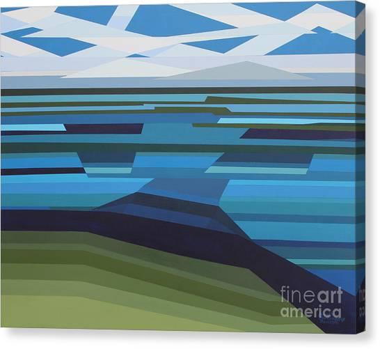 Angular Lake Canvas Print