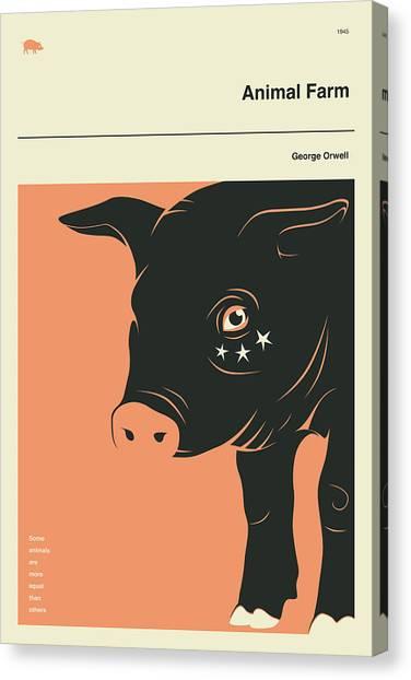 Books Canvas Print - Animal Farm by Jazzberry Blue