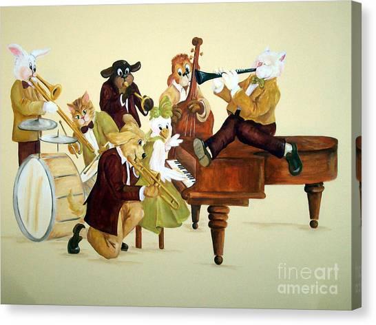 Animal Jazz Band Canvas Print