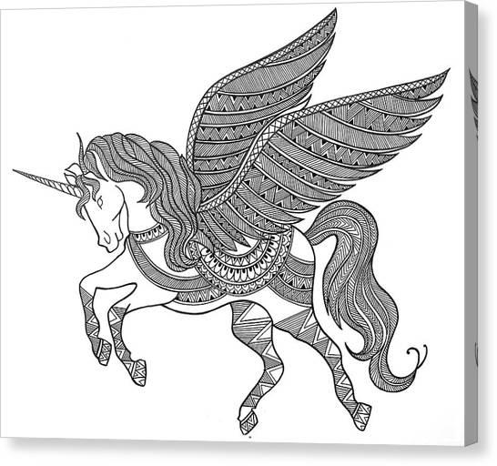 Unicorn Canvas Print - Animal Unicorn by Neeti Goswami