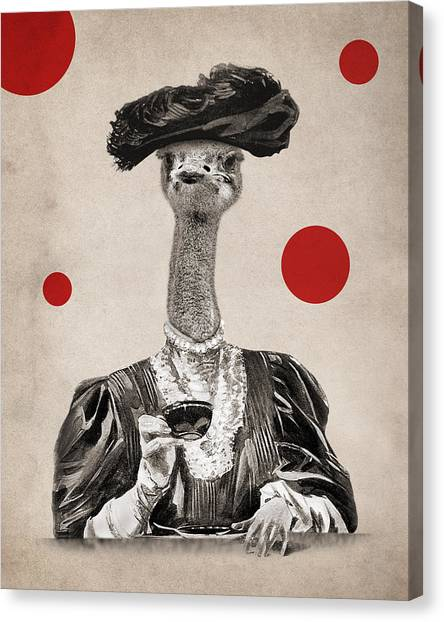 Tea Time Canvas Print - Animal12 by Francois Brumas