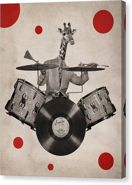 Percussion Instruments Canvas Print - Animal19 by Francois Brumas