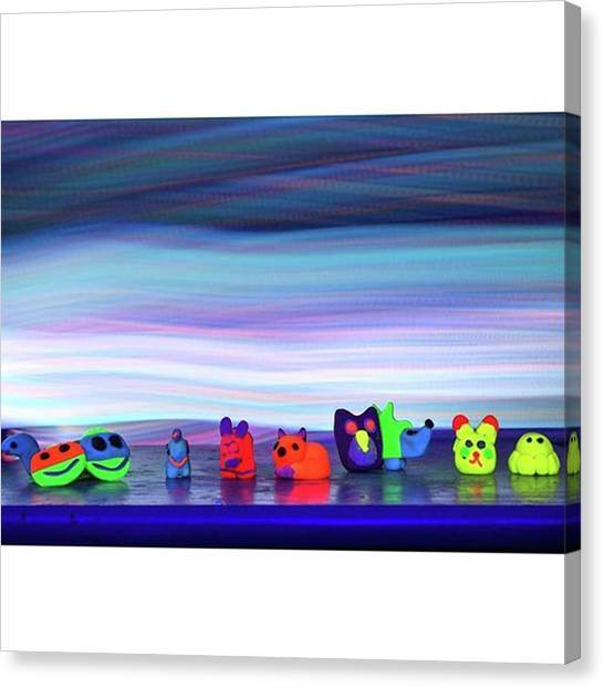 Owls Canvas Print - #animalitos Daughter Made For Cus by Andrew Nourse
