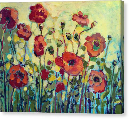 Plein Air Canvas Print - Anitas Poppies by Jennifer Lommers