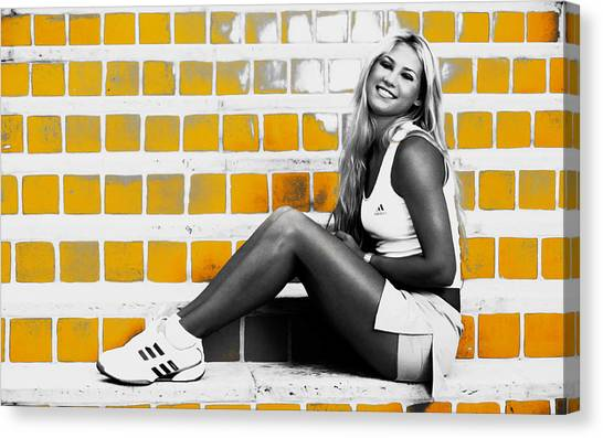 Maria Sharapova Canvas Print - Anna Kournikova by Brian Reaves