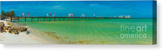 Anna Maria Island Historic City Pier Panorama Canvas Print