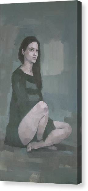 Canvas Print featuring the painting Anna  by Steve Mitchell