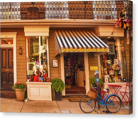 Annapolis Bookstore Canvas Print