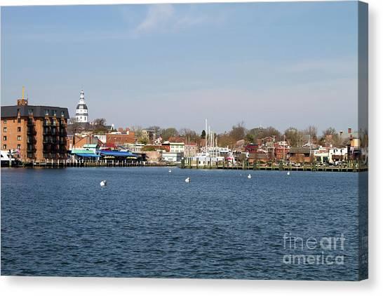 Annapolis City Skyline Canvas Print