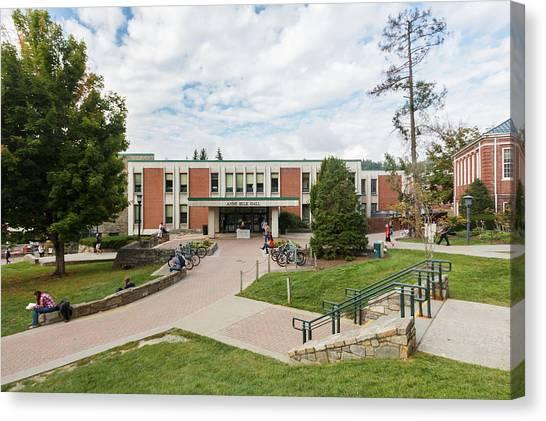 Appalachian State University Asu Canvas Print - Anne Belk Hall At Appalachian State by Bryan Pollard