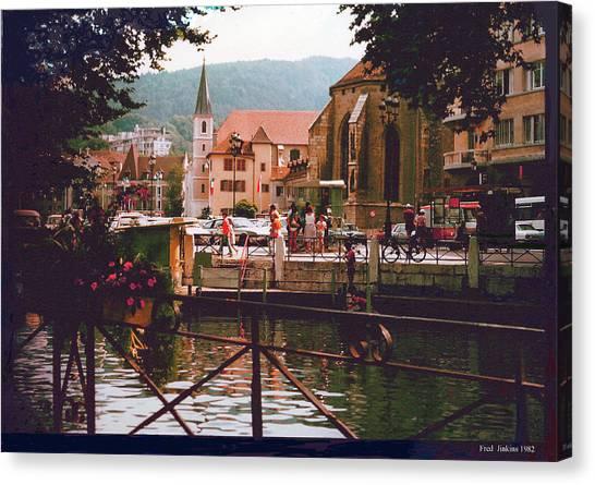 Annecy France Village Scene Canvas Print