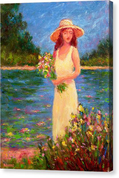 Anne's Garden Pond Canvas Print