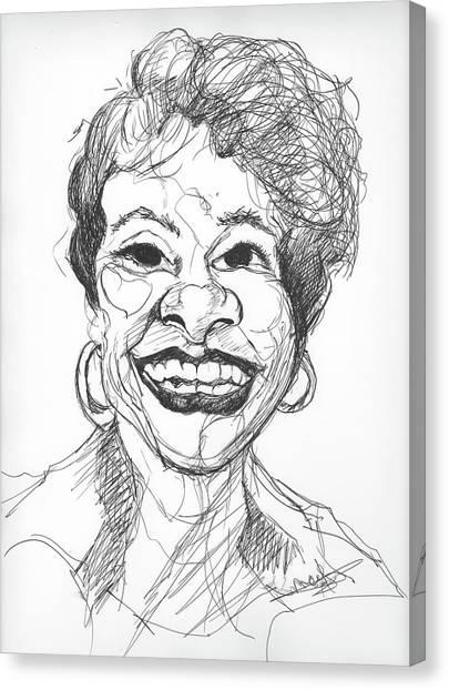 Annette Caricature Canvas Print
