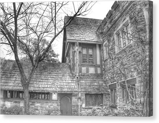 Annex At Ringwood Manor With Tree Canvas Print