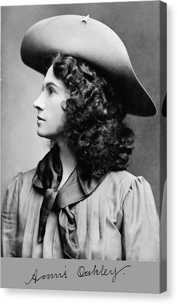 Annie Oakley Profile Canvas Print